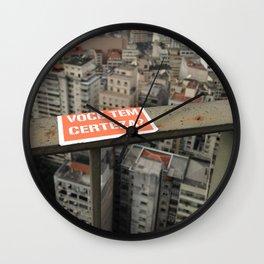 Você tem Certeza? Wall Clock