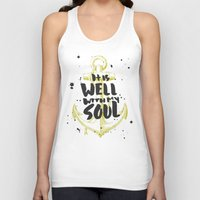 scripture Tank Tops featuring It is Well With My Soul by Zeke Tucker