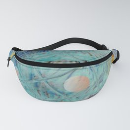 Blue Square and planet Fanny Pack