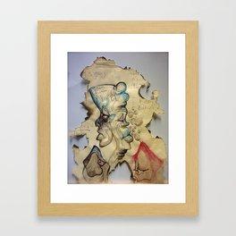 Burning up Depression Framed Art Print