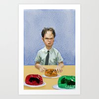 dwight Art Prints featuring Dwight by Richtoon