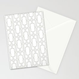 Simply Mid-Century Retro Gray on White Stationery Cards