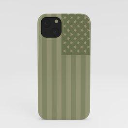 Camo Stars and Stripes – USA Flag in Military Camouflage Colors [FalseFlag 1] iPhone Case