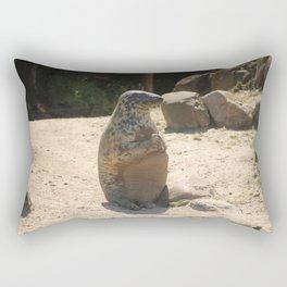Seal Sitting On A Beach Rectangular Pillow