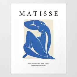 Matisse blue nude, Matisse print, Exhibition wall art, Paper cut outs, Matisse wall art, Matisse women, Matisse nude Art Print
