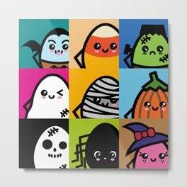 Creepy Eggs Series - Halloween Metal Print