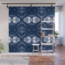 Shibori Tie Dye 1 Indigo Blue Wall Mural