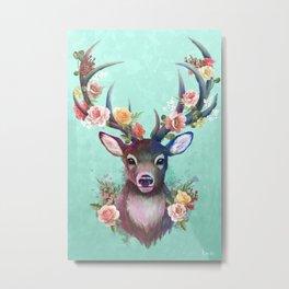 Deer of Spring Metal Print