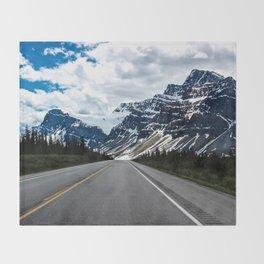 Into the Mountains Throw Blanket