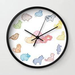 cute furuba fruits basket pattern Wall Clock