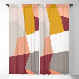 Abstract Geometric 27 Red Blackout Curtain