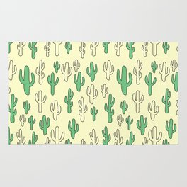 Cactus in Yellow Palette Rug