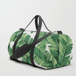 Tropical banana leaves Duffle Bag