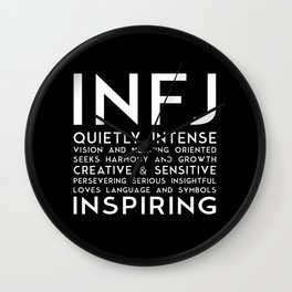 INFJ (black version) Wall Clock