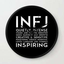 INFJ (black version) Wall Clock