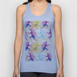 Watercolor women runner pattern Unisex Tank Top