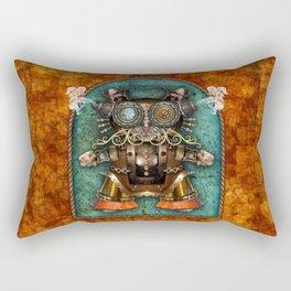 Cacotopia Steampunk Kitty - brass Rectangular Pillow