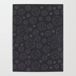 Space Rocks (Patterns Please) Poster