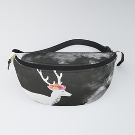 YOUNG DEER WITH FLOWER CROWN Fanny Pack