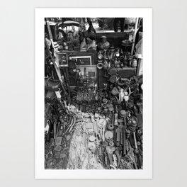 One Man's Possessions Art Print