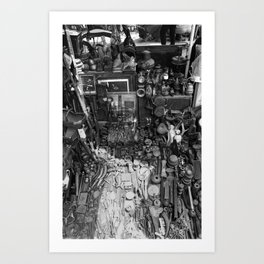 One Man's Possessions Art Print