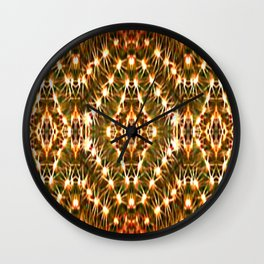 Desert Cactus Lighs on Red,Green,White,Tan,Brown Wall Clock