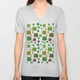 Lucky Charms - Four Leaf Clover Unisex V-Neck