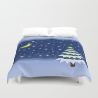 fairytale Duvet Covers featuring Christmas fairytale by Natalia Bykova