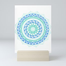 Shades of Blue Mandala Mini Art Print