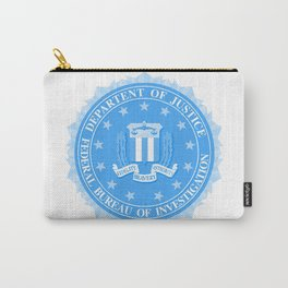 FBI Seal In Blue Carry-All Pouch