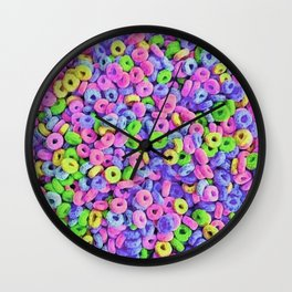 Fruit Loops Cereal Pattern Wall Clock