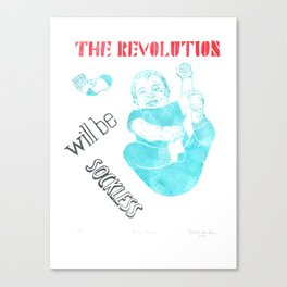 Baby Power: The Revolution Will Be Sockless Canvas Print