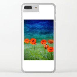 Poppies paradise Clear iPhone Case
