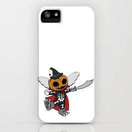 Halloween Pumpkin Costume Reds Grays iPhone Case