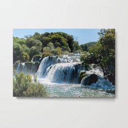 Waterfall in Krka NP - Croatia Metal Print