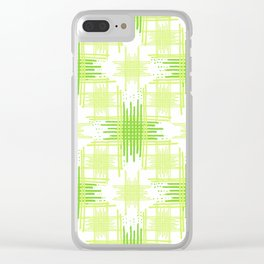 Intersecting Lines Pattern Design Clear iPhone Case