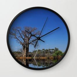 African landscape with baobabs Wall Clock
