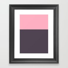 Colorblock Plum Framed Art Print