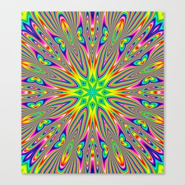 Psychedelic Rainbow Kaleidoscope Canvas Print
