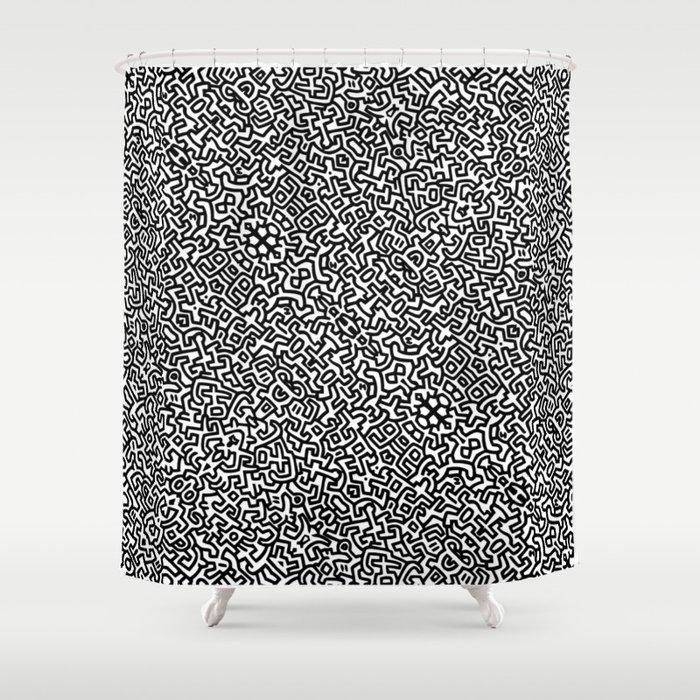 wall art K.Haring Shower Curtain