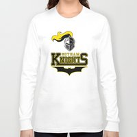 gotham Long Sleeve T-shirts featuring Gotham Knights by Pixel Design
