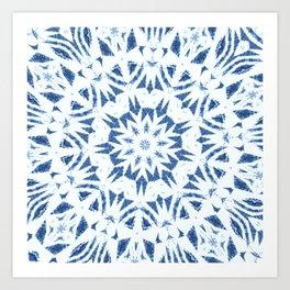 Snowflake Denim & White Art Print