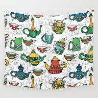 tea Wall Tapestries featuring Tea by Julia Badeeva