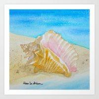 Seashell On The Seashore #1 Art Print