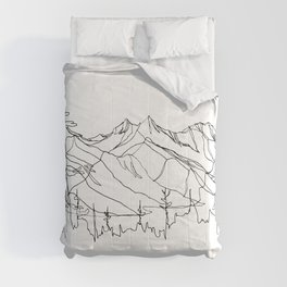 Squamish Summits :: Single Line Comforters