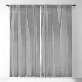 Woodland -  Minimal Grey Birch Forest Blackout Curtain