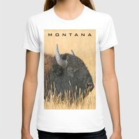 montana T-shirts featuring Montana Bison by David Todd