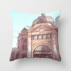 Flinders Street Station, Melbourne, Australia Throw Pillow