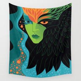 Eagle-eye Warrior Woman Wall Tapestry