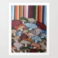 Colorful Mush Art Print